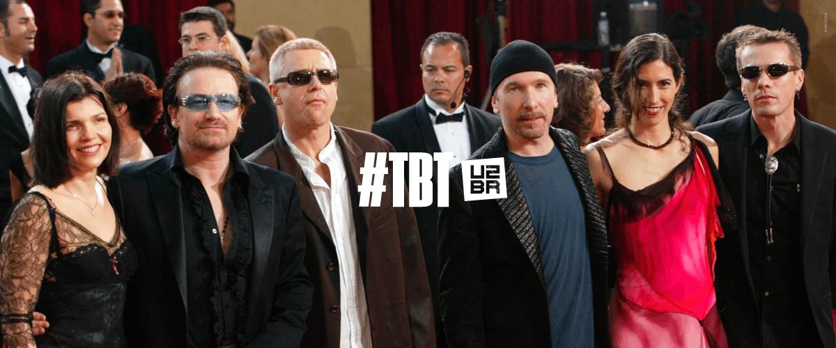 #TBT: A primeira vez do U2 no Oscar