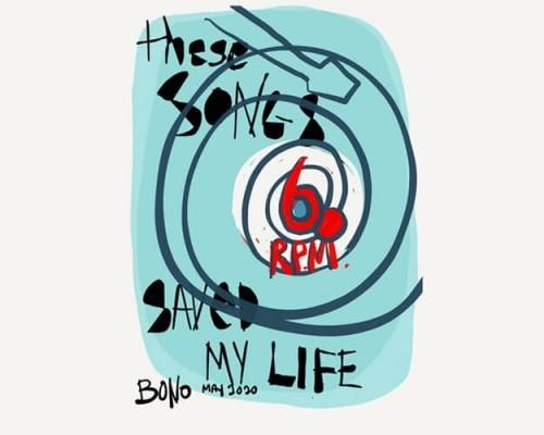 """Bono faz lista de 60 músicas que """"salvaram sua vida"""""""