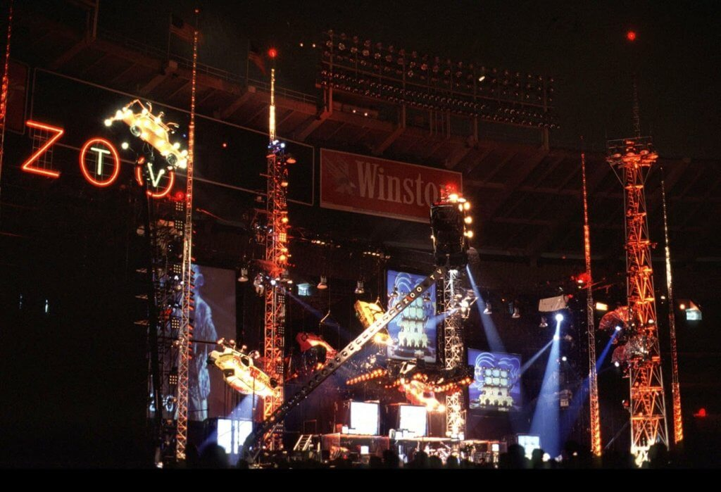 Palco da Zoo TV Tour do U2