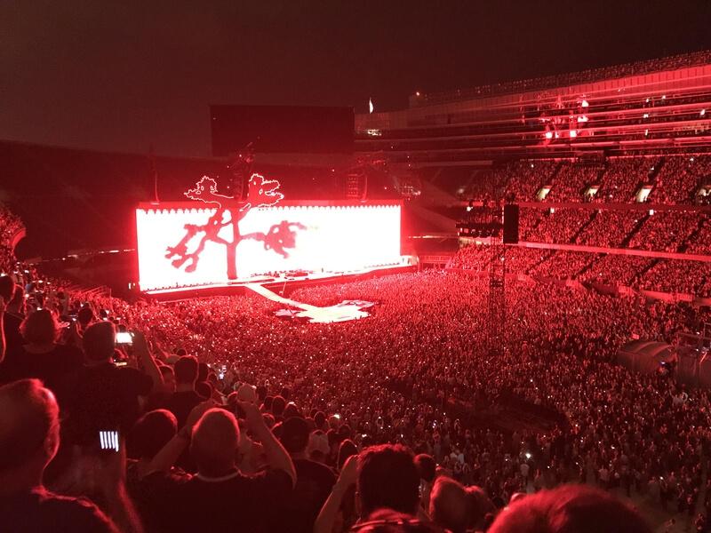 Palco da Joshua Tree Tour 2017 do U2
